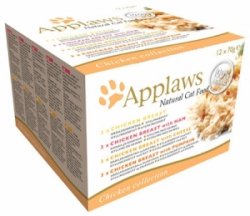 Applaws Cat Chicken Selection multipack konzervy 12 x 70g