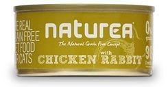 Naturea GF Cat Chicken, Rabbit konzerva 80g