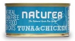 Naturea GF Cat Tuna, Chicken konzerva 80g