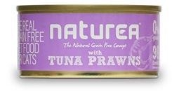 Naturea GF Cat Tuna, Prawns konzerva 80g