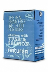 Naturea GF Dog Chicken, Tuna, Salmon konzerva 375g
