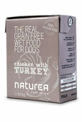 Naturea GF Dog Chicken, Turkey konzerva 375g