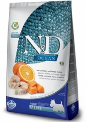 N&D OCEAN DOG GF Adult M/L Codfish&Pumpkin&Orang 2,5kg