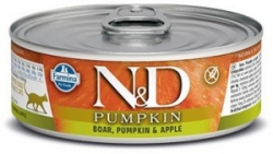 N&D CAT PUMPKIN Adult Boar & Apple 80g