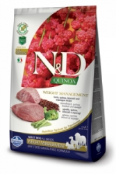 N&D GF Quinoa DOG Weight Mngmnt Lamb & Broccoli 7kg