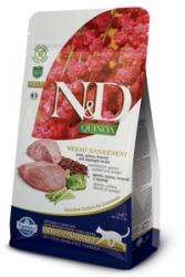 N&D GF Quinoa CAT Weight Mngmnt Lamb & Broccoli 5kg