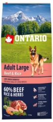Ontario Adult Large Beef&Rice12kg