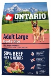 Ontario Adult Large Beef&Rice 2,25kg