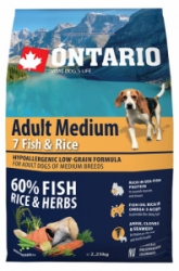 Ontario Adult Medium Fish&Rice 2,25kg