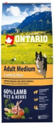 Ontario Adult Medium Lamb&Rice 12kg