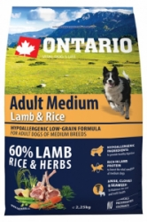 Ontario Adult Medium Lamb&Rice 2,25kg