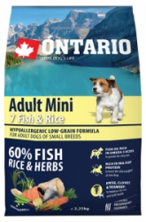 Ontario Adult Mini Fish&Rice 2,25kg