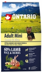 Ontario Adult Mini Lamb&Rice 6,5kg