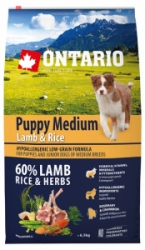 Ontario Puppy Medium Lamb&Rice 6,5kg