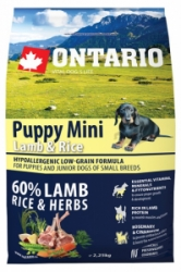 Ontario Puppy Mini Lamb&Rice 2,25kg