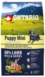 Ontario Puppy Mini Lamb&Rice 6,5kg