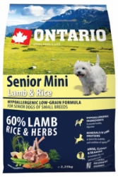 Ontario Senior Mini Lamb&Rice 2,25kg
