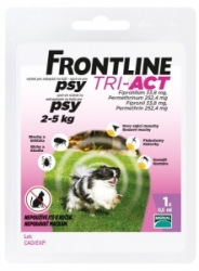 Frontline Tri-Act pro psy Spot-on XS (2-5 kg)