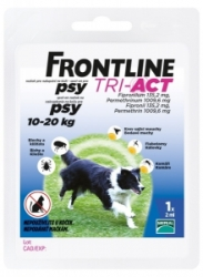 Frontline Tri-Act pro psy Spot-on M (10-20 kg)