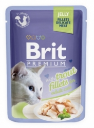 Brit Premium Cat D Fillets in Jelly with Trout 85g