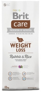 Brit Care Dog Weight Loss Rabbit & Rice 12kg