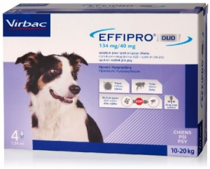 Effipro DUO Dog M (10-20kg) 134/40 mg 4x1,34ml