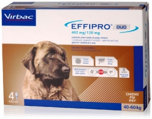 Effipro DUO Dog XL (40-60kg) 402/120 mg 4x4,02ml