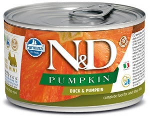 N&D DOG PUMPKIN Adult Duck & Pumpkin Mini 140g