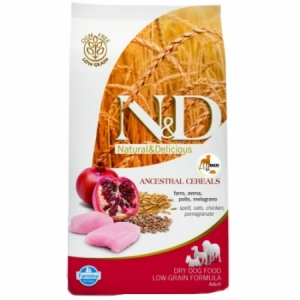 N&D Low Grain Dog Senior M/L Chicken & Pomegranate 12kg