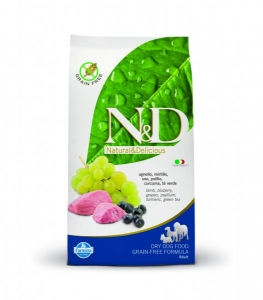 N&D Grain Free Dog Adult Mini Lamb&Blueberry 2,5kg