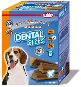 Nobby StarSnack Dental Sticks Medium dentální pamlsky 28ks / 560g