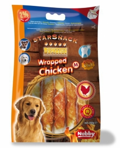 Nobby StarSnack Barbecue Wrapped Chicken Medium 13cm 150g