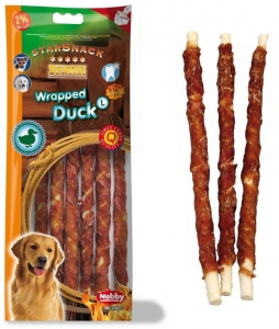 Nobby StarSnack Barbecue Wrapped Duck Large tyčinky 25cm / 128g