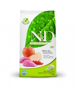 N&D Grain Free Dog Adult Boar&Apple 12kg