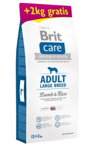 Brit Care Dog Adult Large Breed Lamb & Rice 12+2kg