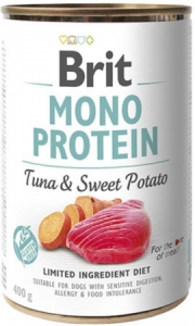Brit Dog Mono Protein Tuna & Sweet Potato konzerva 400g