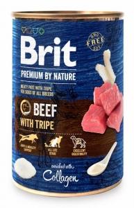 Brit Premium Dog by Nature konzerva Beef & Tripes 400g