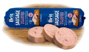 Brit Sausage Chicken and White Fish 800g