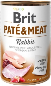 Brit Dog Paté & Meat Rabbit konzerva 800g