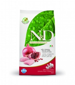 N&D Grain Free Dog Adult Chicken&Pomegranate 800g