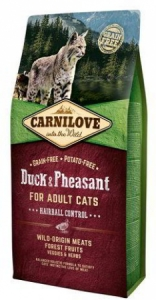 Carnilove Cat Duck&Pheasant Adult Hairball Contr 2kg