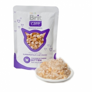 Brit Care KITTEN kapsička Chicken & Cheese Pouch 80g