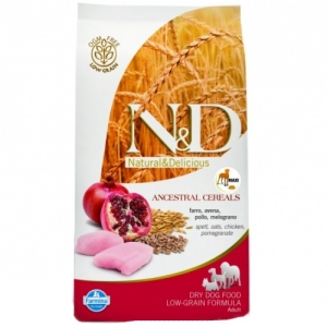 N&D Low Grain Dog Adult Mini Chicken&Pomegranate 800g