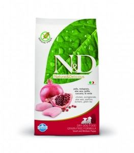 N&D Grain Free Dog Puppy S/M Chicken&Pomegranate 2,5kg