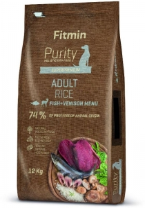 Fitmin dog Purity Rice Adult Fish & Venison 12kg