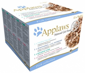 Applaws Cat Fish Selection multipack konzervy 12 x 70g