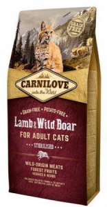 Carnilove Cat Lamb&Wild Boar Adult Sterilised 6kg