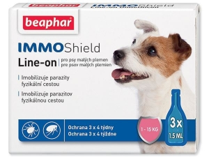 Beaphar Line-on IMMO Shield pes S 3x1,5ml