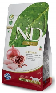 N&D PRIME CAT Neutered Chicken & Pomegranate 300g