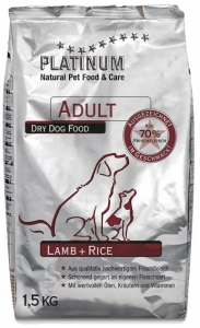 PLATINUM Natural Adult Lamb 1,5kg